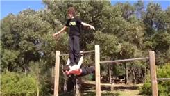 Longest Back Lever Pose While Balancing Person On Back