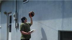 Most Bounces Of A Basketball Off The Side Of A Building In One Minute