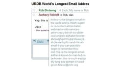 Longest Active Email Address