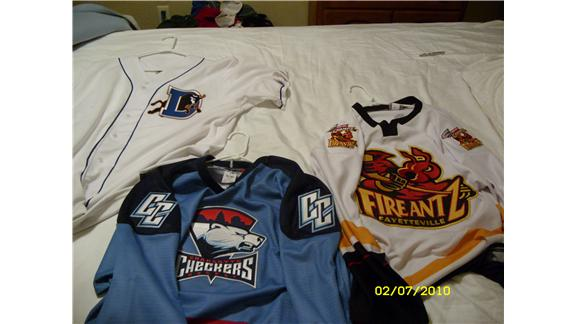 Largest Collection Of Jerseys From Professional Minor League Sports Teams