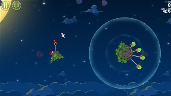 Highest Score On Level 1-2 Of Angry Birds Space: Pig Bang