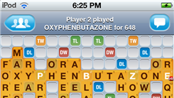 "Highest Single Move ""Words With Friends"" Score Using Four Tiles"