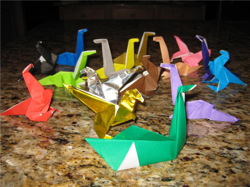 Largest Multi-Colored Origami Dinosaur Collection