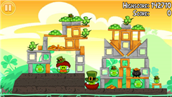 "Highest Score On ""Angry Birds Seasons - Go Green, Get Lucky"" Level 1-2"