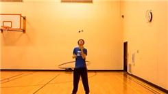 Longest Time Juggling Four Balls In A Shower Pattern While Hula Hooping