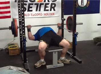 Most Reps Bench Pressing A 280-Pound Barbell (Athlete Under 235 Lbs.)