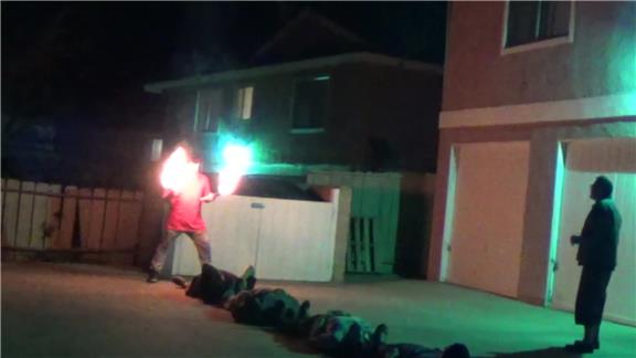 Most People Walked Over While Juggling 5 Fire Torches