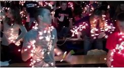 "Largest Group To Dance ""The Robot"" While Wrapped In Christmas Lights"