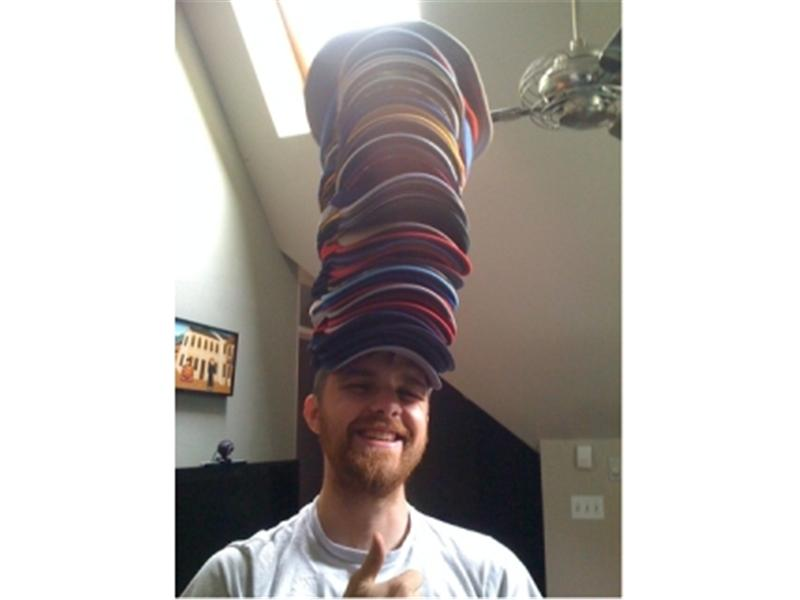 Most Hats Worn At Once