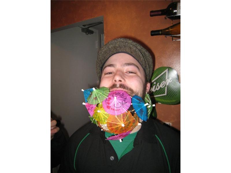 Largest Cocktail Umbrella Beard