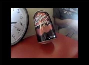 Fastest Time To Open A Soda Can And Balance It On Edge
