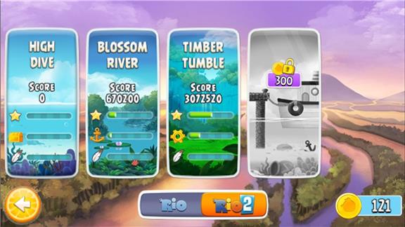 Highest Score in All 20 Levels of TIMBER TUMBLER in Angry Birds Rio Free
