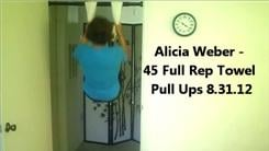 Most Full Rep Towel Pull-ups