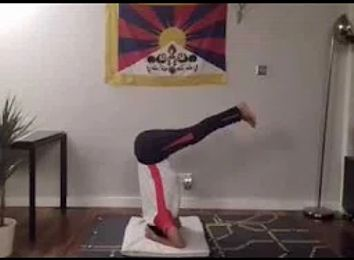 longest headstand with legs bent at right angle  world