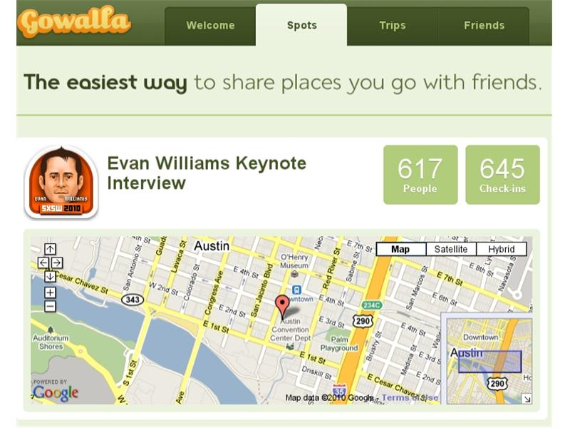 Largest Group To Check In At The Same Venue On Gowalla At Once