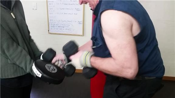 Most Contact Punches Made While Holding Two Six-Kilogram Dumbbells