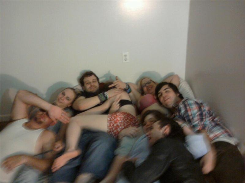 Largest Cuddle Puddle On An Air Mattress