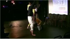 Longest Handstand While Doing A Stand-Up Comedy Routine