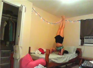 longest headstand on a bed  world record  sarah ports