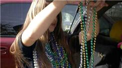 Most Mardi Gras Bead Necklaces Worn At Once