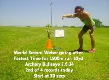Fastest 1500-Meter Cross Country Run 10-Yard Archery Combination
