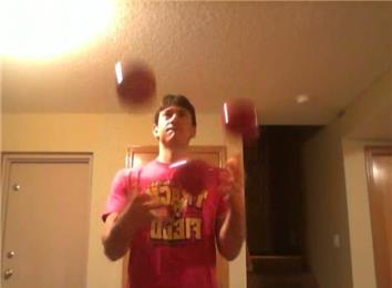 Longest Time Juggling Three Four-Pound Balls In A Box Pattern