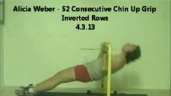 Most Consecutive Inverted Rows Pull-Ups