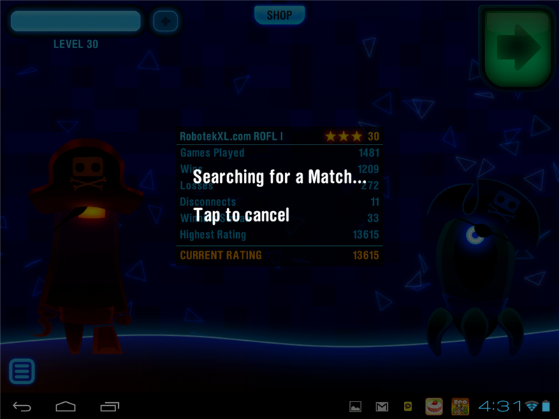 Longest Winning Streak In Robotek HD Multiplayer App