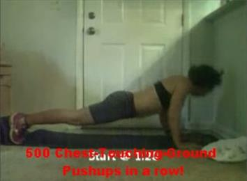 Fastest 500 Chest-Touching-Ground Push-Ups In A Row