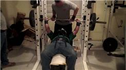 Most Reps Two-Board Bench Pressing A 245-Pound Barbell (Athlete Under 250 Lbs.)