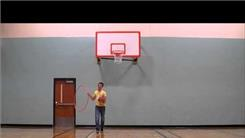 Farthest No-Look Basketball Shot While Hula Hooping