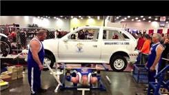 Most Reps Bench Pressing A Car