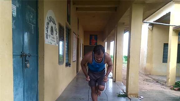 Most One-Legged Jump Rope Jumps In 10 Seconds