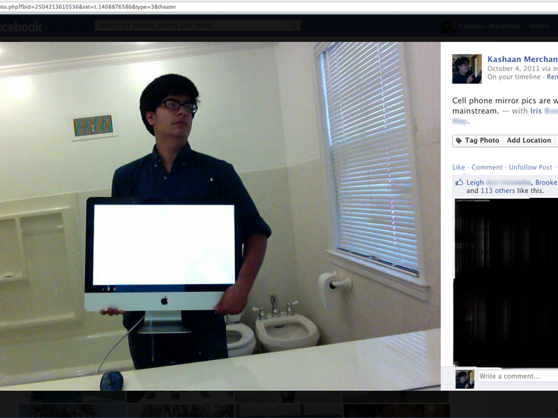 Most Liked Personal Photo Of A Mac In A Bathroom On Facebook