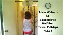 Most Half Rep Towel Pull-Ups