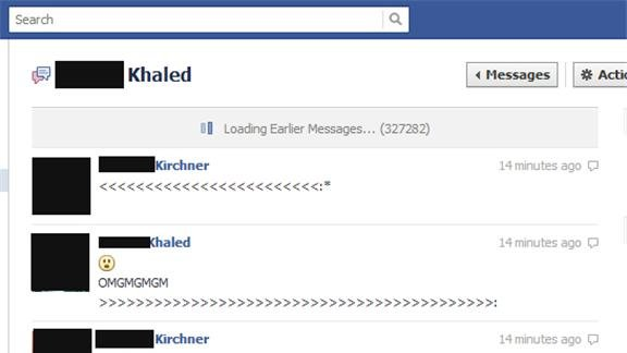 Most Messages In A Facebook Email Thread