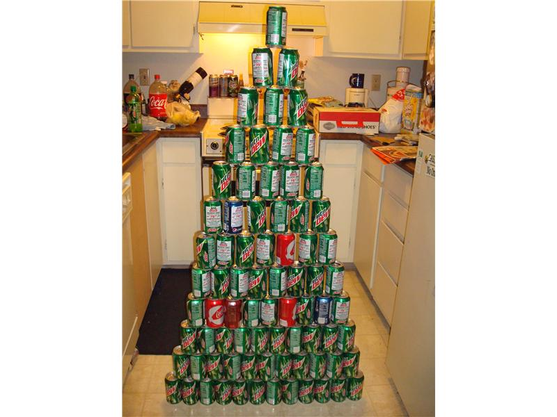 Largest Soda Can Triangle