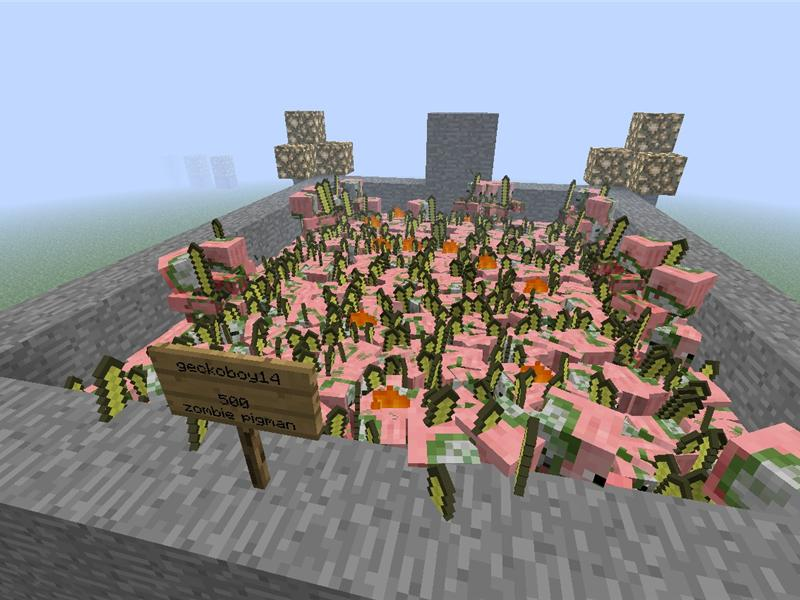 Most Zombie Pigmen Spawned In