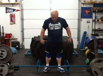 Most Reps Deadlifting A 480-Pound Giant Tire