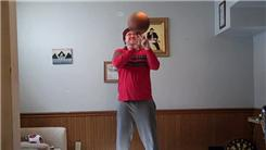 Fastest Time To Curl A Basketball Spinning On One Finger While Balancing On A Rola Bola