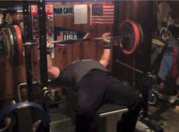Most Reps Bench Pressing A 350-Pound Barbell (Athlete Under 235 Lbs.)