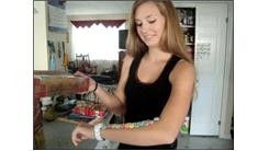 Most Fruit Loops Balanced On Arm While Holding A Box Of Yeast Rolls