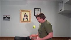 Most Tennis Ball Bounces Off A Football