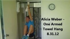 Longest One-Armed Deadhang Using A Towel Grip