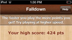 "Highest Score In ""Falldown 3"" (Mobile Game App)"