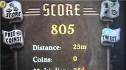 "Shortest Distance Run In A Single Game Of ""Temple Run"""
