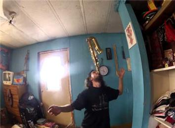 Longest Time Balancing A Saxophone On Chin