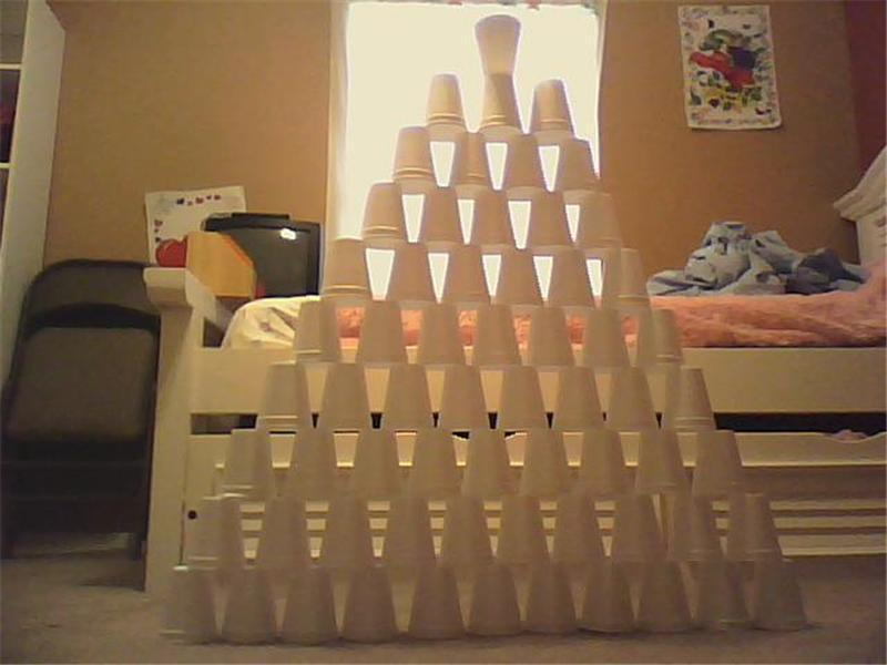 Largest Styrofoam Cup Triangle