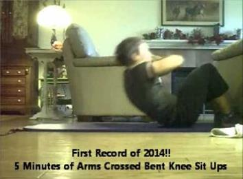Most Arms Crossed Bent Knee Sit-Ups In Five Minutes