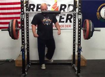 Most Reps Squatting 370-Pound Weight Using A Cambered Squat Bar
